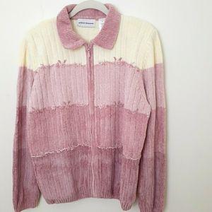 Alfred Dunner Women's Chenille Sweater Sz L